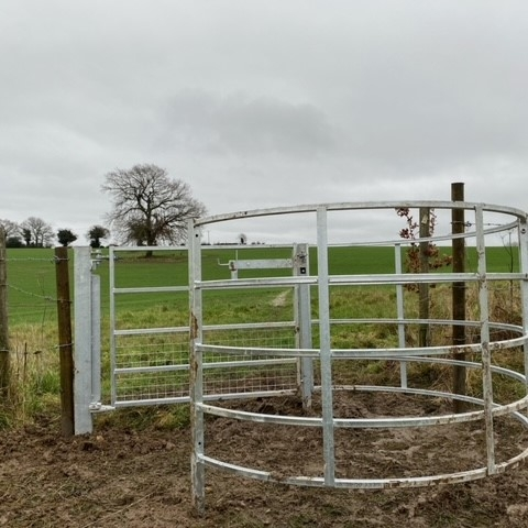 One kissing gate finished!