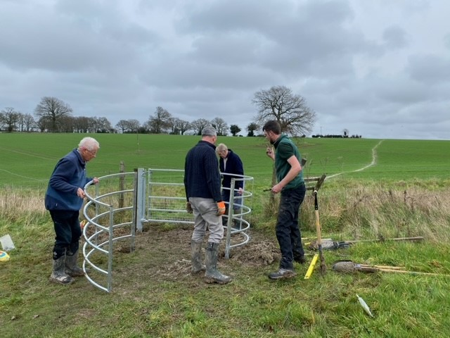 Assembling the second kissing gate