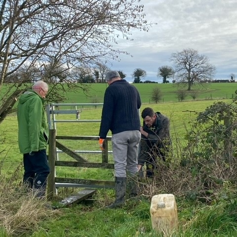 Removing a stile and positioning a new gate